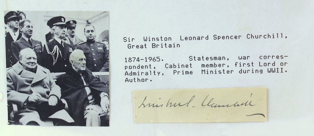 Winston Churchill Signature