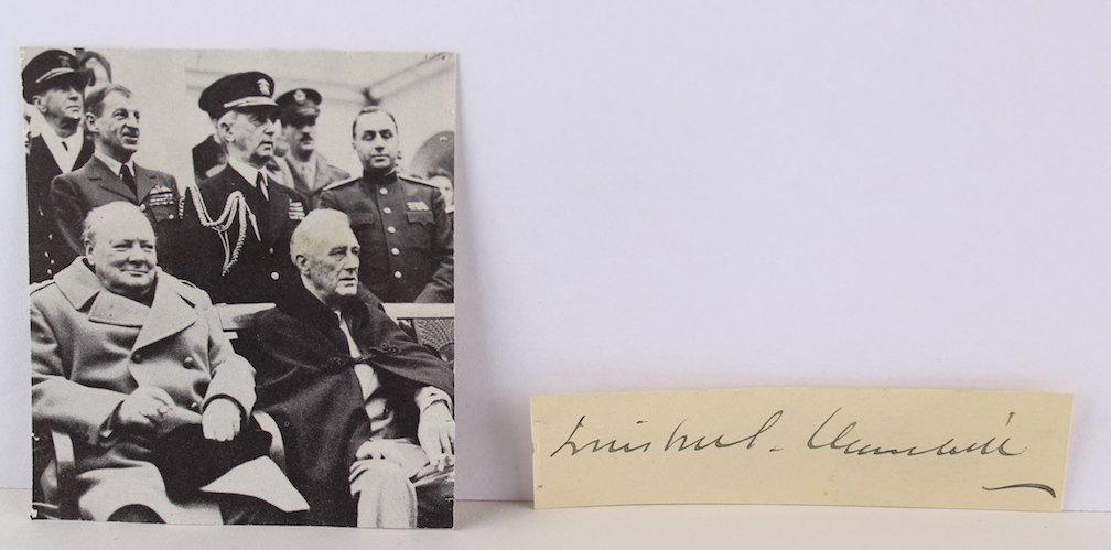 Winston Churchill Signature - 3