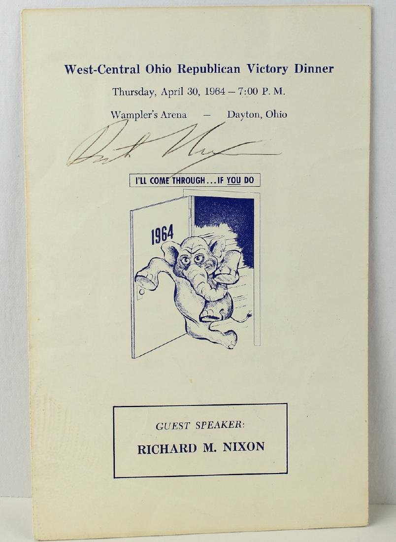 Richard Nixon 37th President Signature on 1964 Victory