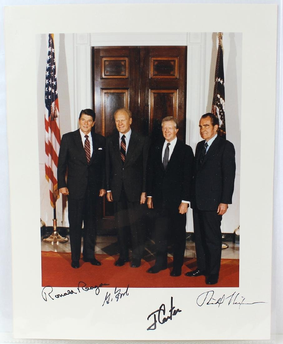 Four Presidents &Signatures Reagan, Ford, Carter& Nixon