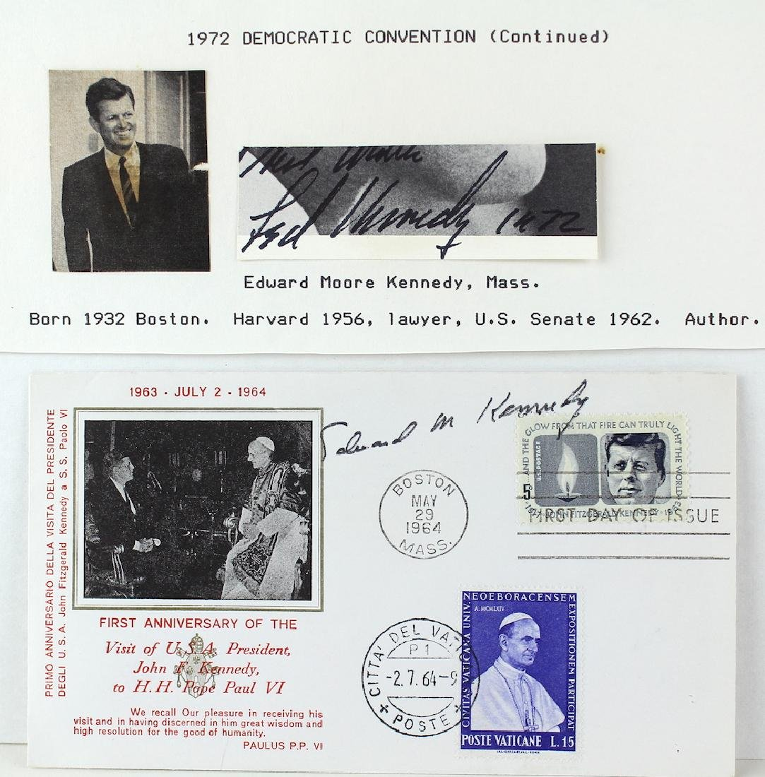 Ted Kennedy Pair of Signatures