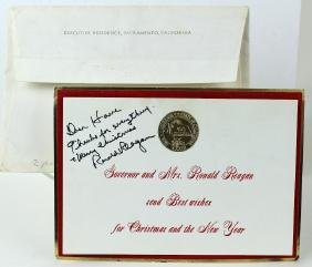Ronald Reagan Signed Christmas Card
