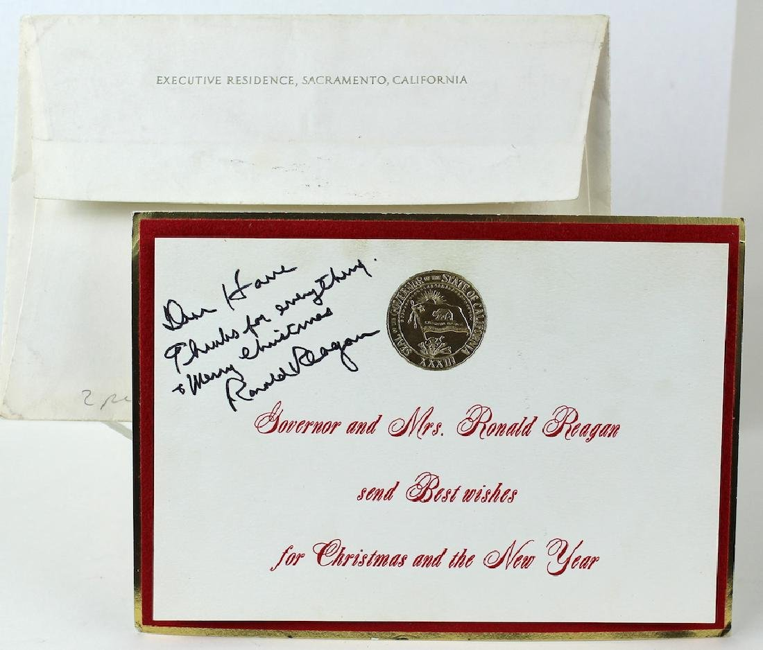Ronald Reagan Signed Christmas Card