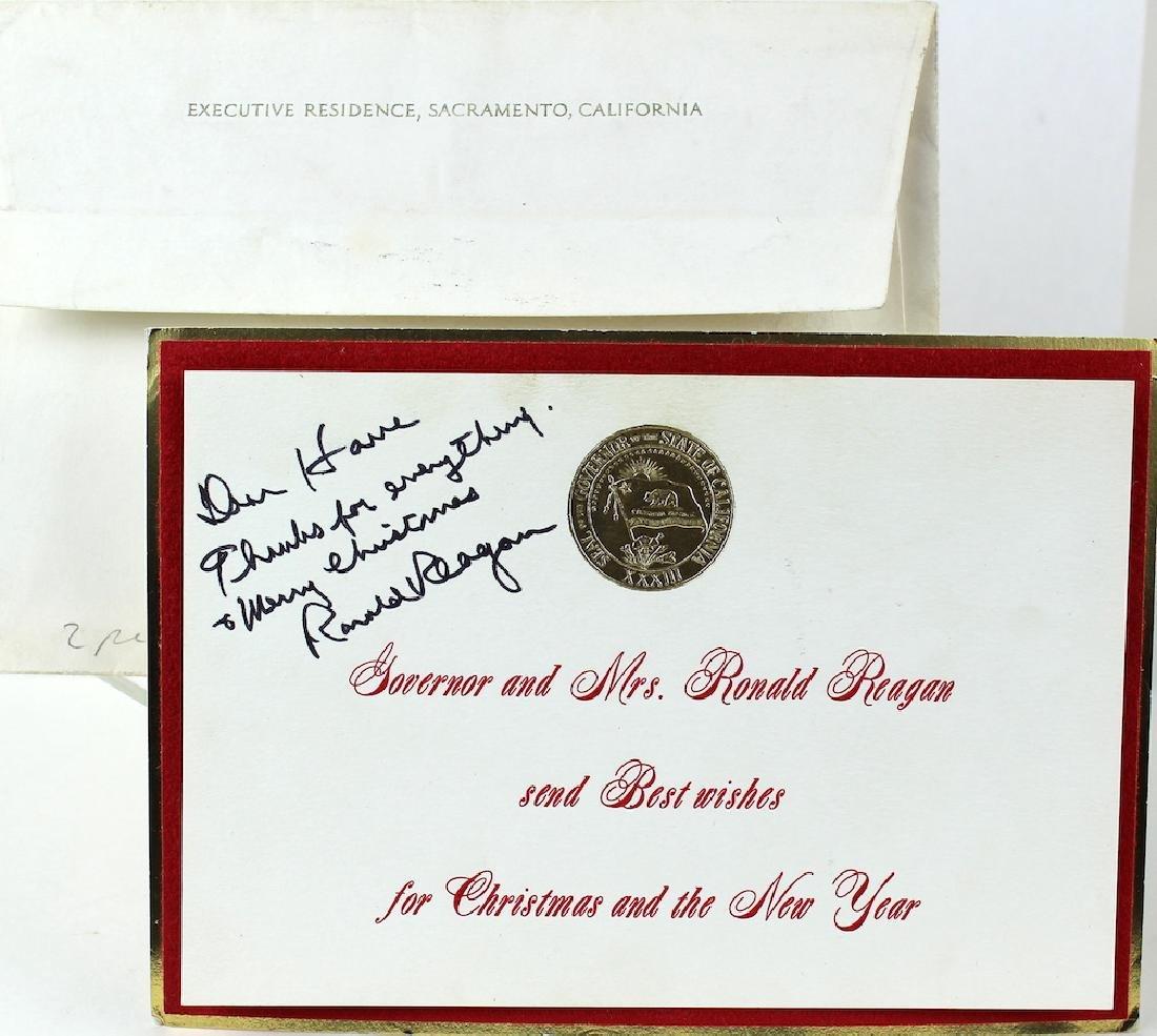 Ronald Reagan Signed Christmas Card - 2