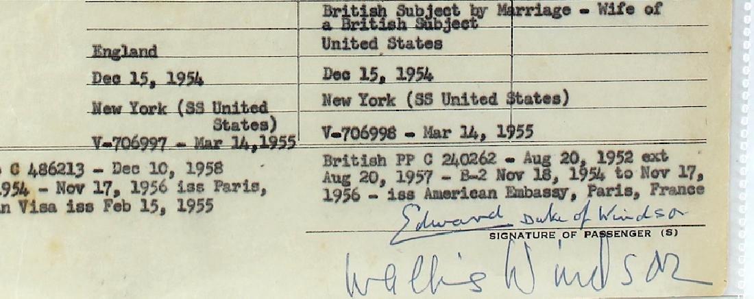 Duke and Duchess of Windsor Signatures - 2