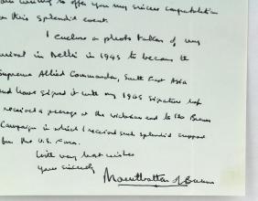 Earl Mountbatten of Burma Signed Letter Killed by IRA