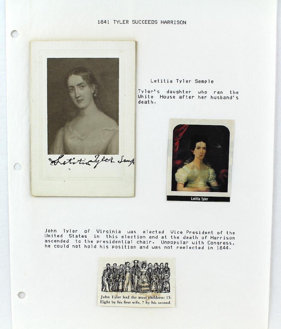 Letitia Tyler-Semple President's Daughter Signature