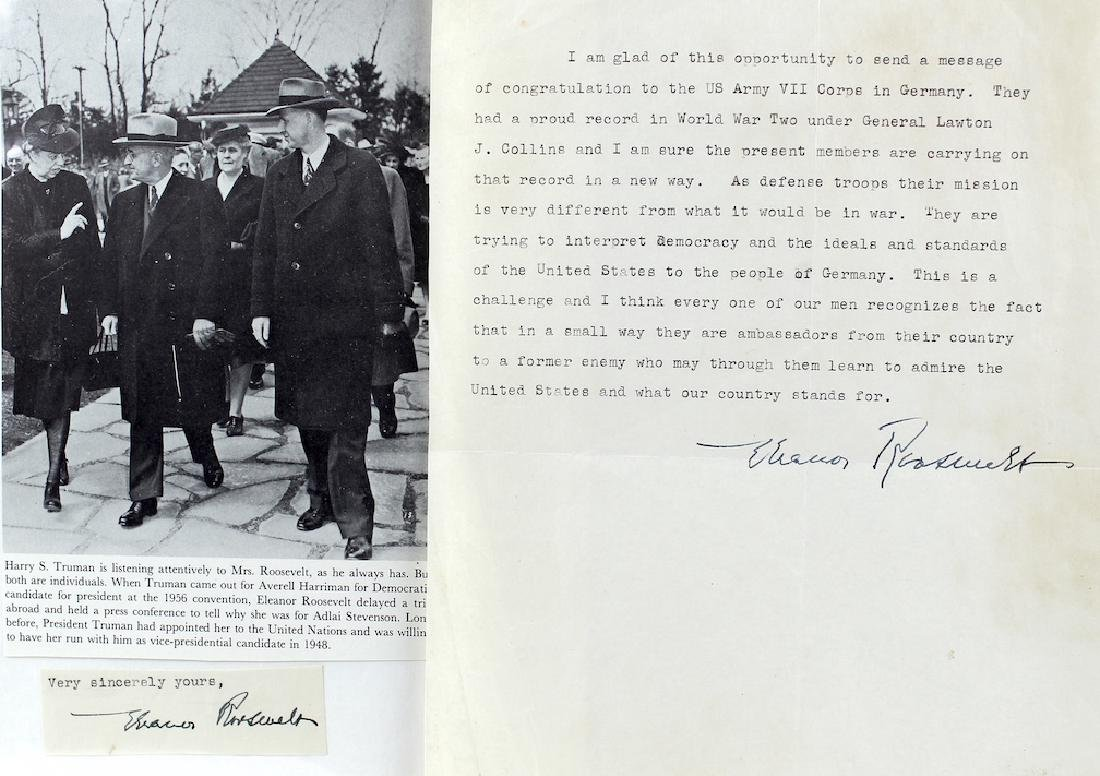 Eleanor Roosevelt Letter & Signature