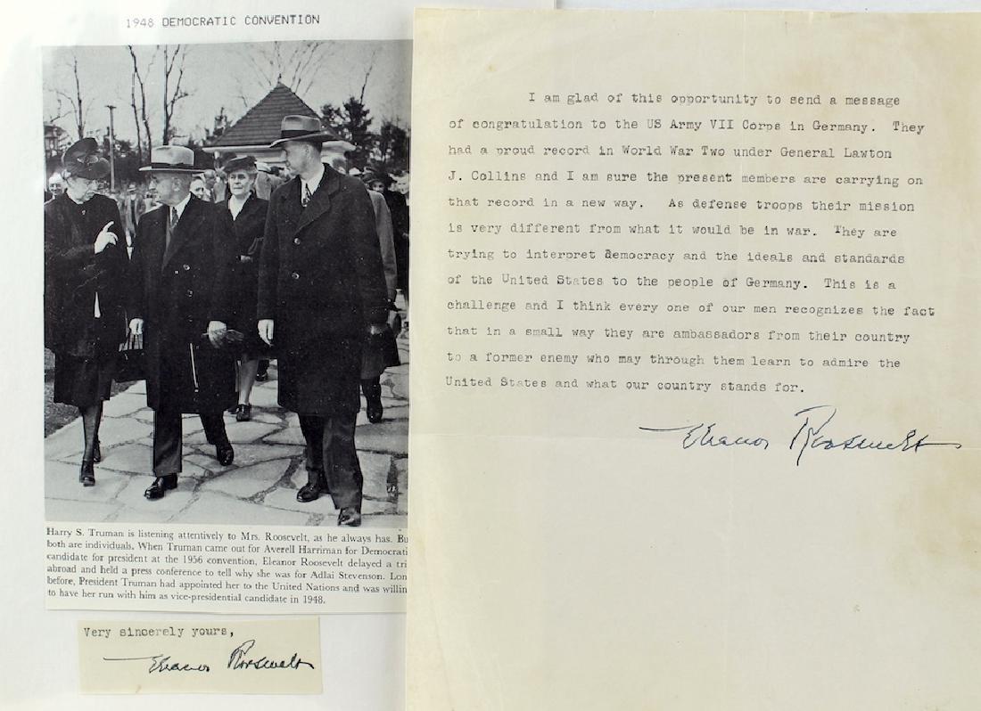 Eleanor Roosevelt Letter & Signature - 2