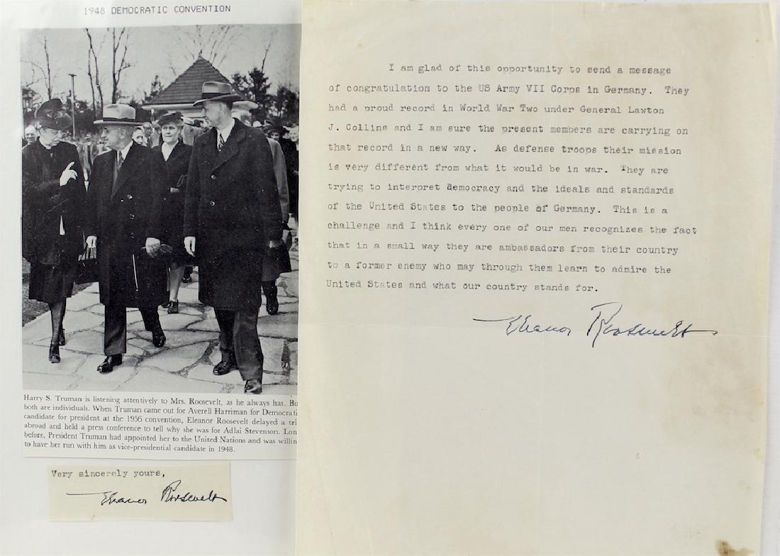 Eleanor Roosevelt Letter & Signature - 3