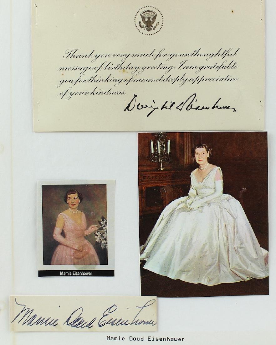 Dwight & Mamie Eisenhower Signatures