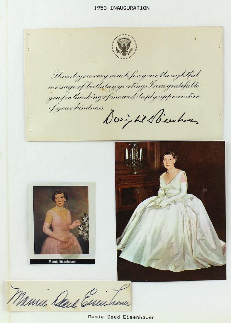 Dwight & Mamie Eisenhower Signatures - 2