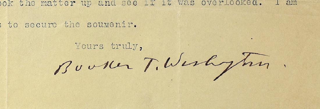 Booker T. Washington 1896 Signed Letter - 2