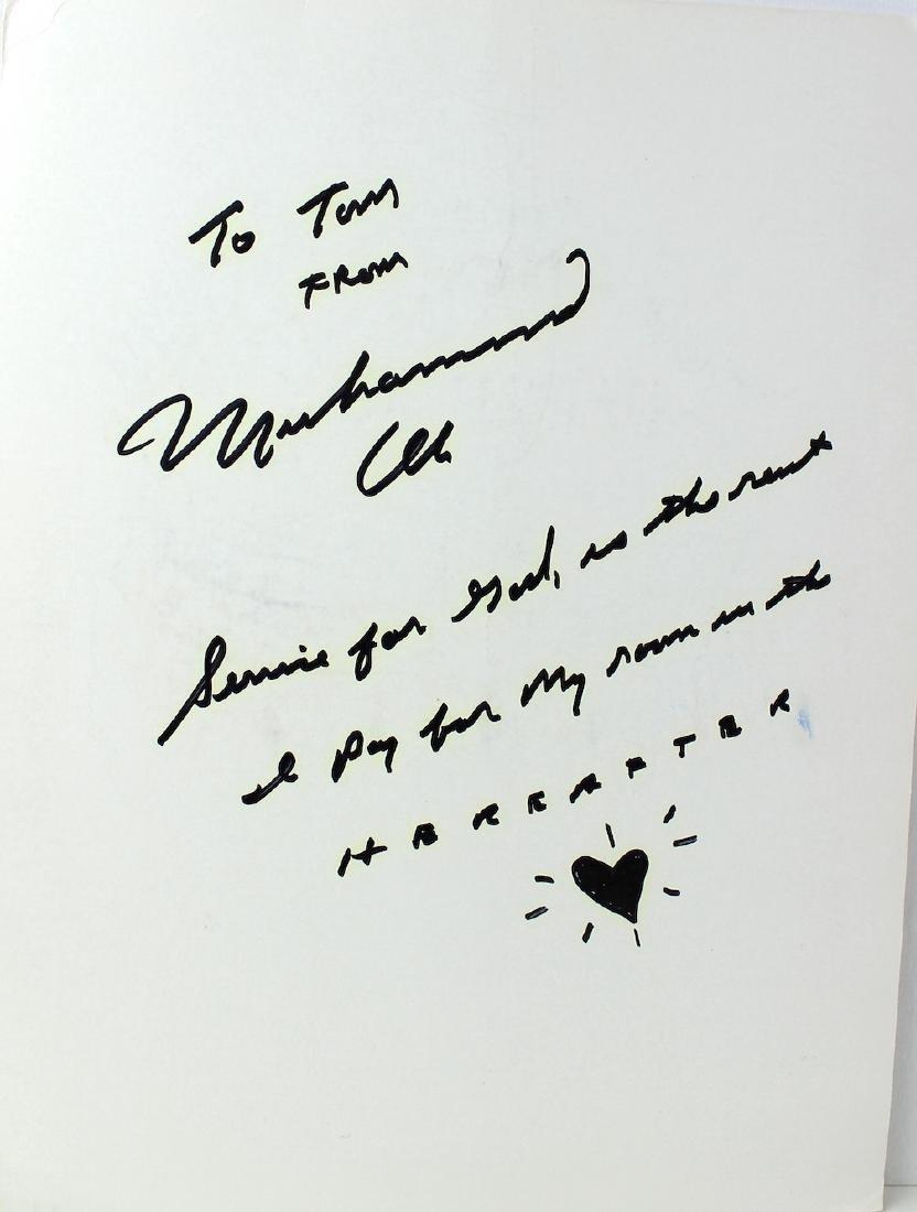 Muhammad Ali Signature & Note