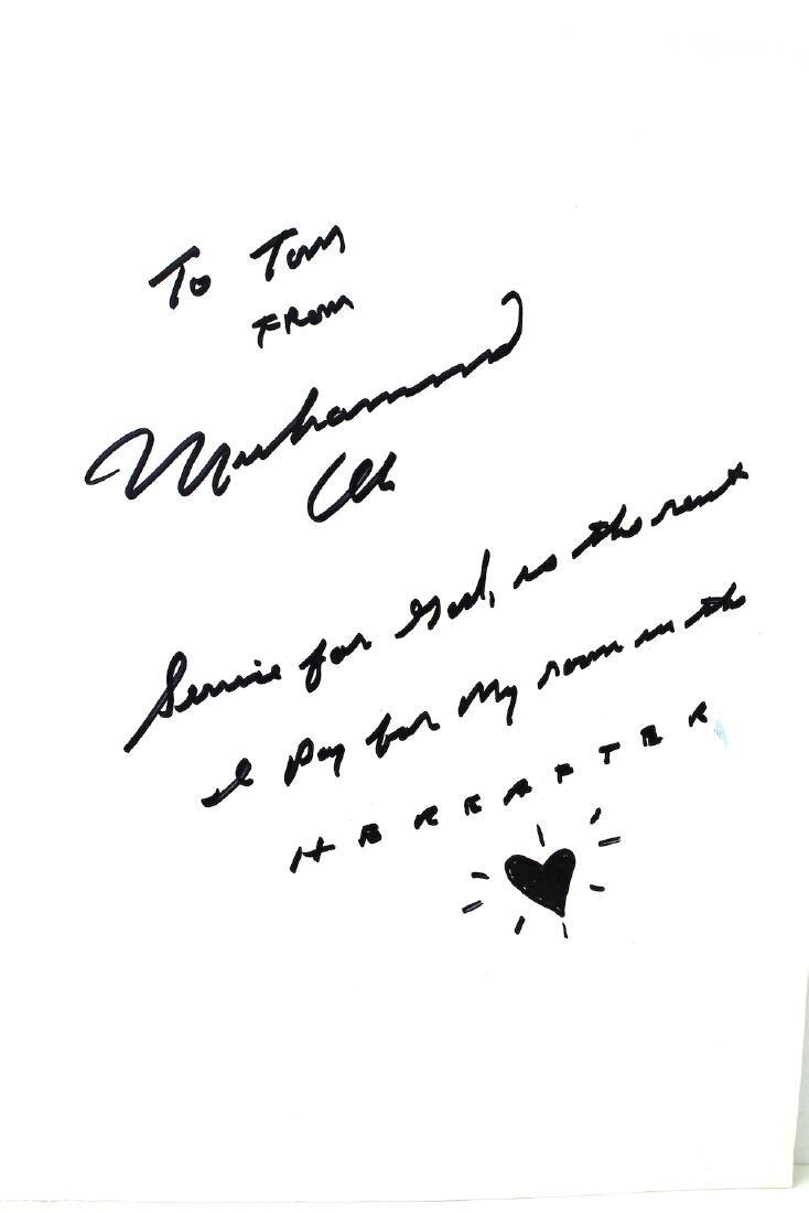 Muhammad Ali Signature & Note - 2