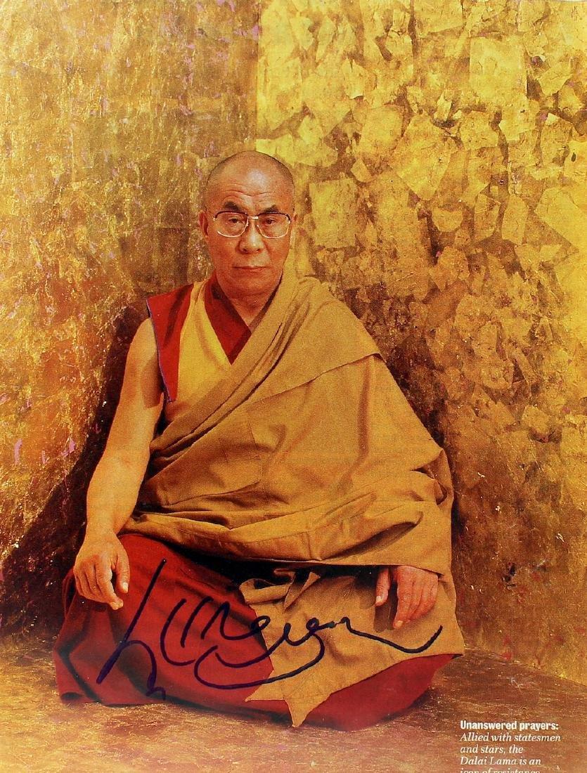 Dalai Lama Signed Picture
