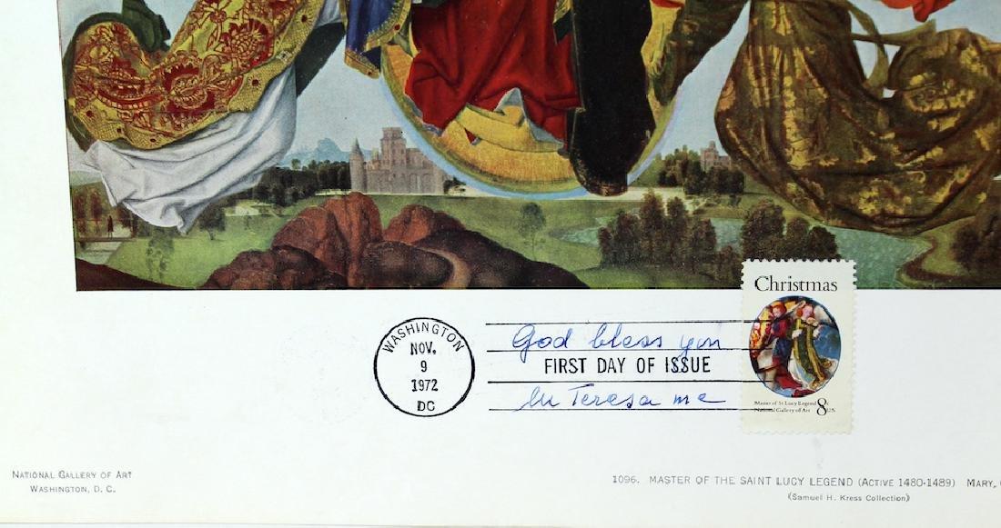 Mother Teresa Spiritual Signed Religous Cover - 3