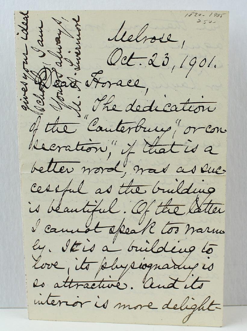 Mary Livermore Abolitionist Women's Rights Letter