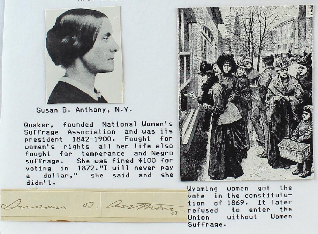 Susan B. Anthony Signature - 2