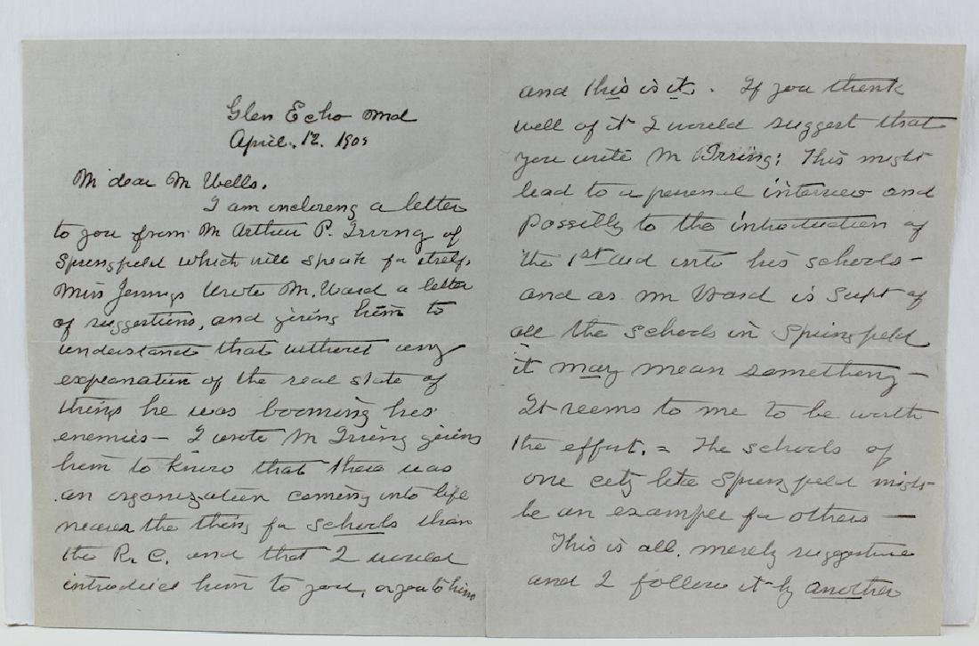 1909 Clara Barton 4 Page Signed Letter