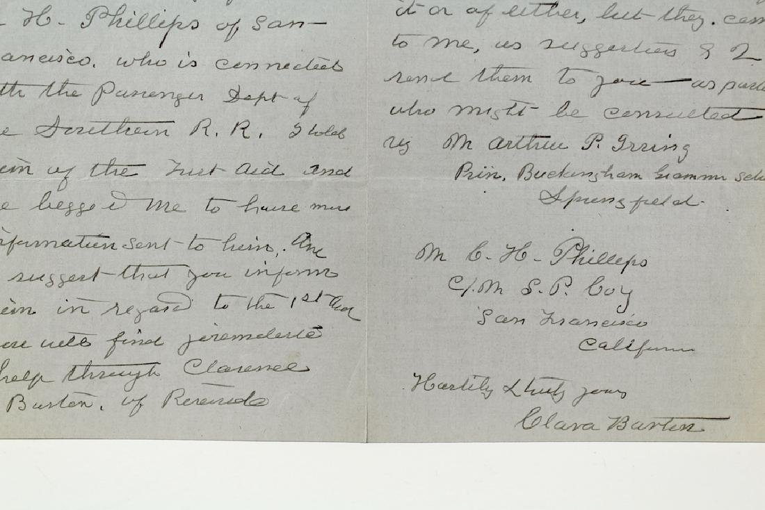 1909 Clara Barton 4 Page Signed Letter - 3