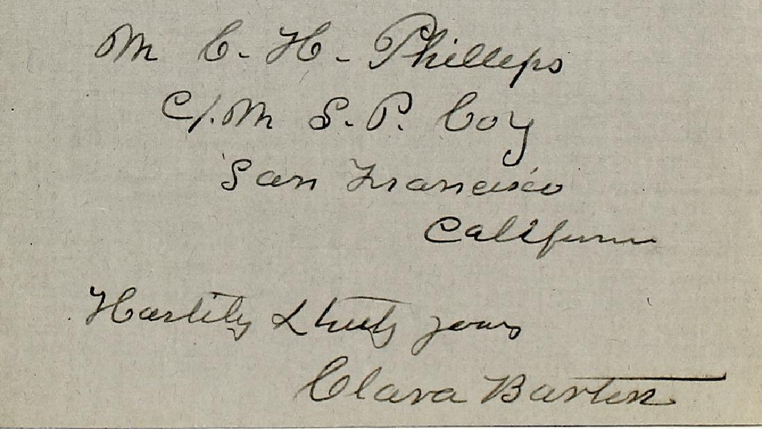 1909 Clara Barton 4 Page Signed Letter - 4