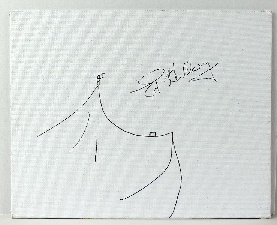 Explorer Edmund Hillary Signed Drawing