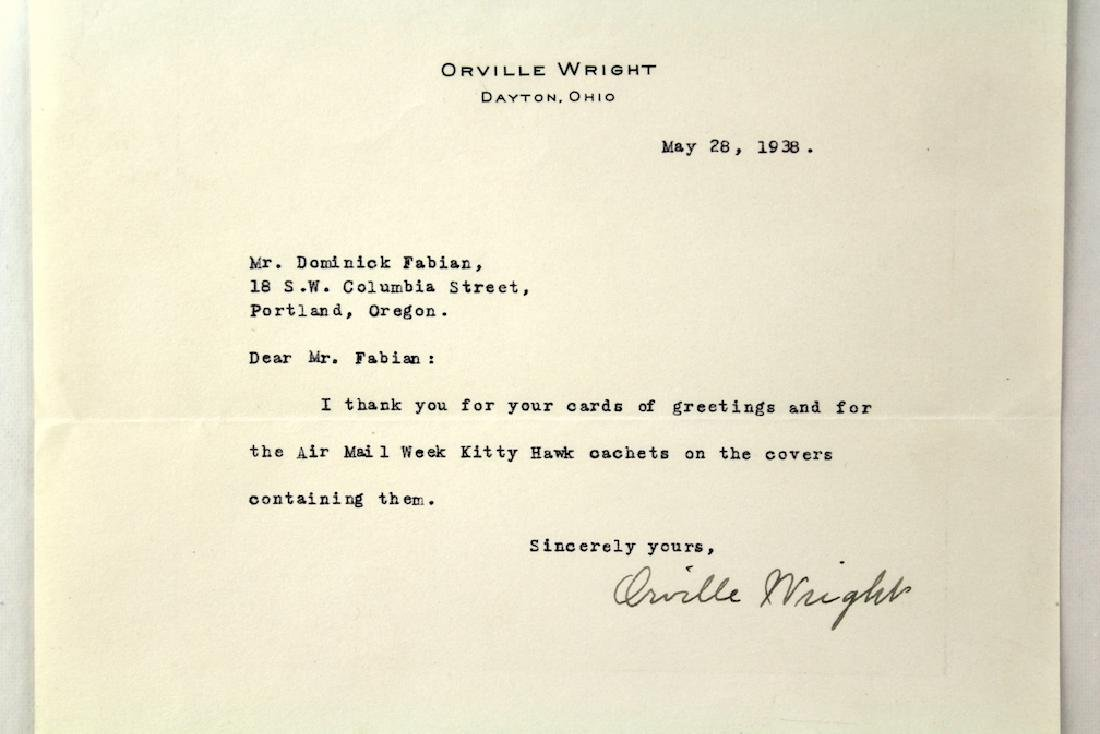 1938 Orville Wright Signed Letter - 2