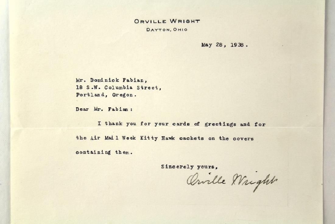 1938 Orville Wright Signed Letter - 2