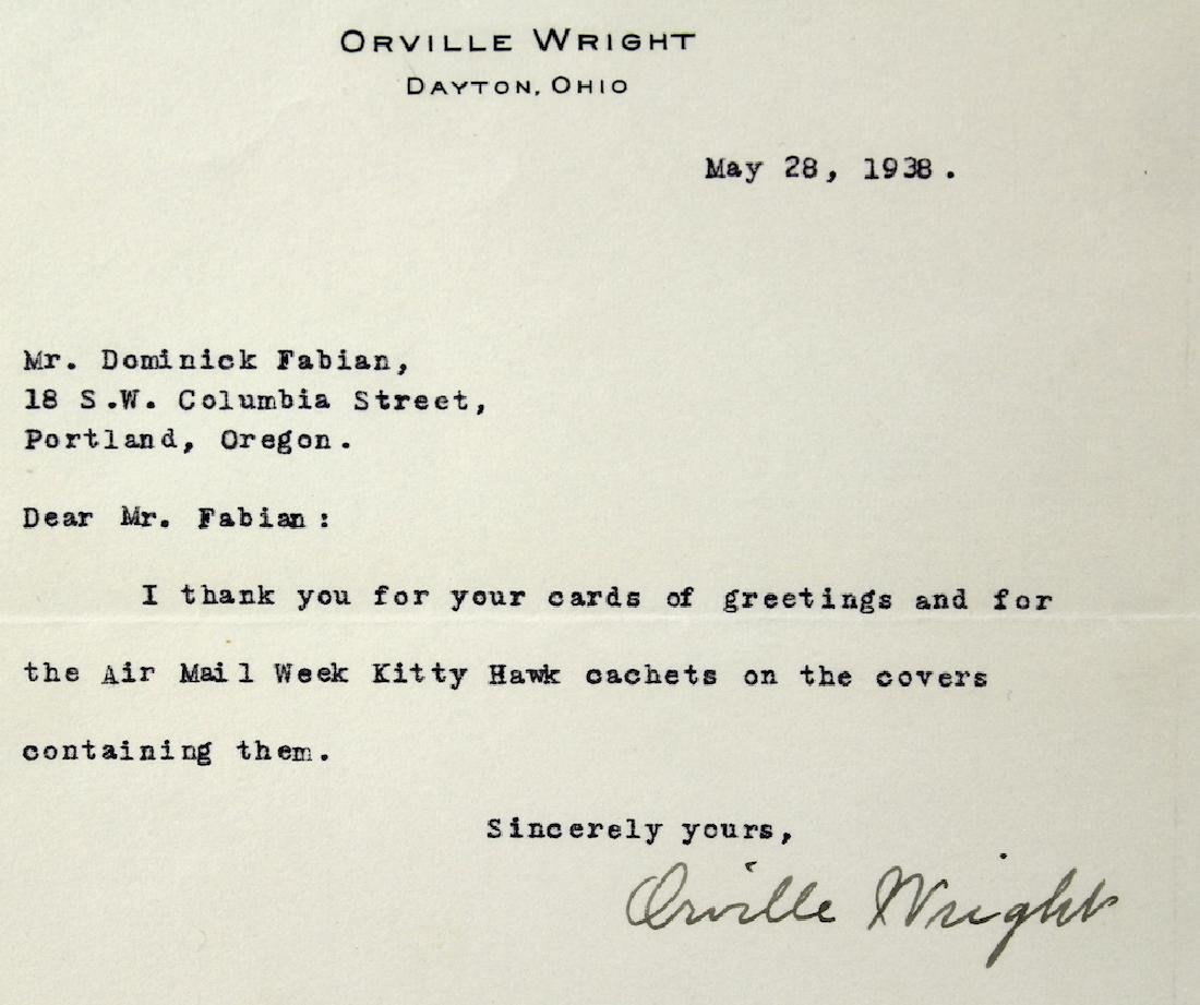 1938 Orville Wright Signed Letter - 3