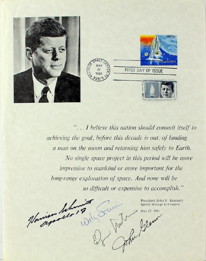 Astronaut John Glenn, Wally Schirra, Edgar Mitchell &