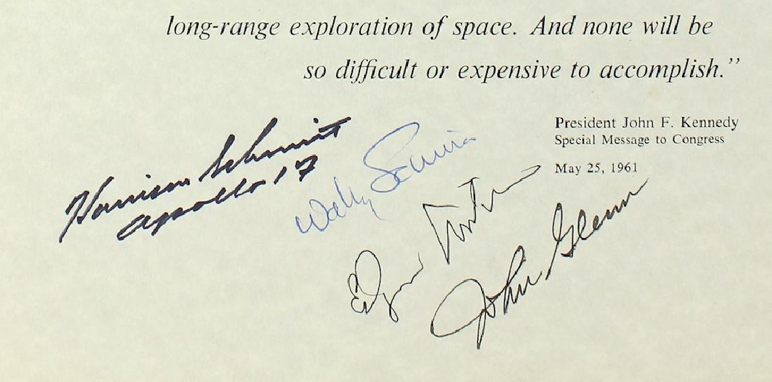 Astronaut John Glenn, Wally Schirra, Edgar Mitchell & - 2