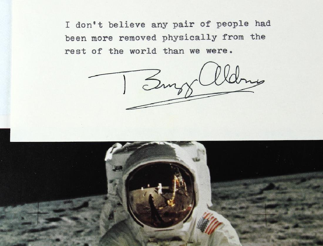 Buzz Aldrin Astronaut Signed Photo and Card - 2