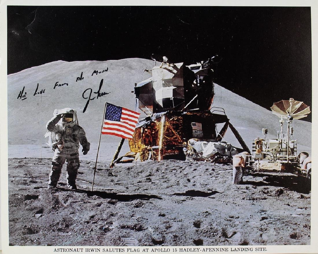 Jim Irwin Apollo 15 8th on the Moon Signed Photo