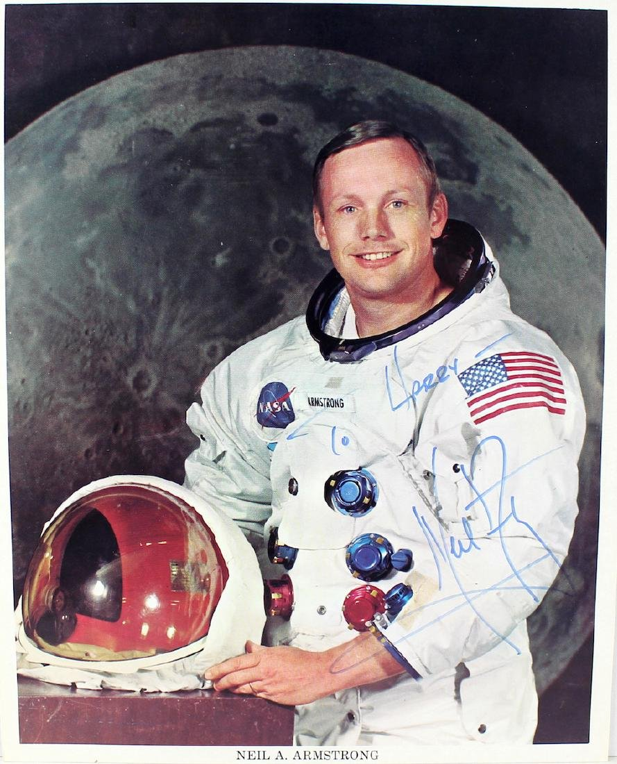 Neil Armstrong First Astronaut on the Moon Signed Photo