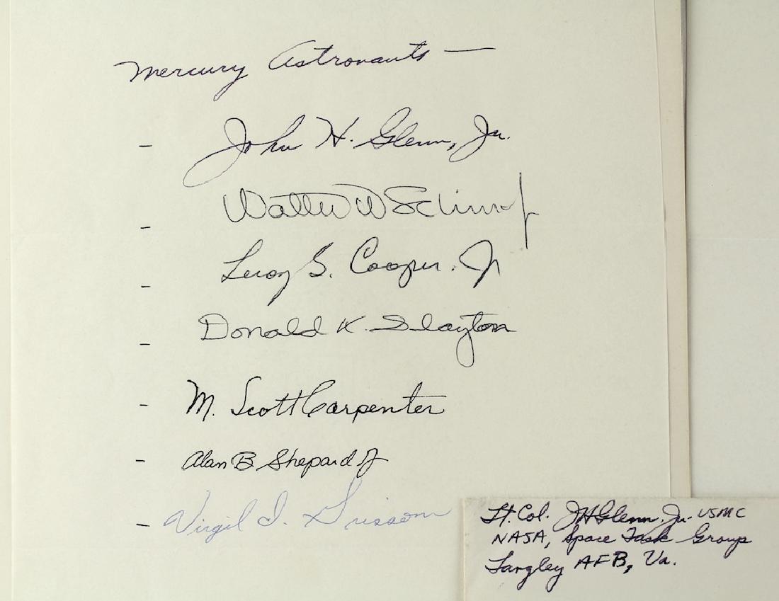 Project Mercury Orig 7 Astronauts & John Glenn Letter - 2