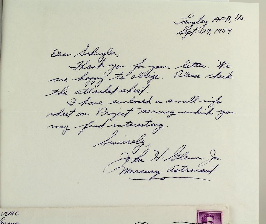 Project Mercury Orig 7 Astronauts & John Glenn Letter - 3