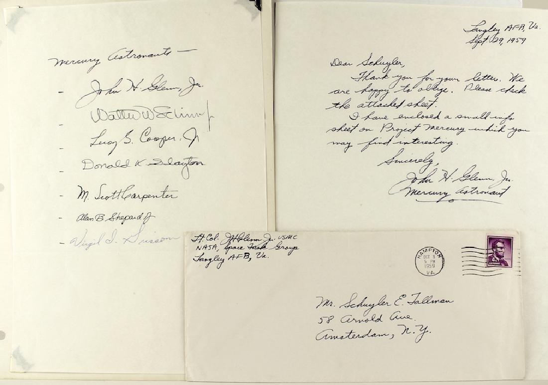 Project Mercury Orig 7 Astronauts & John Glenn Letter - 4