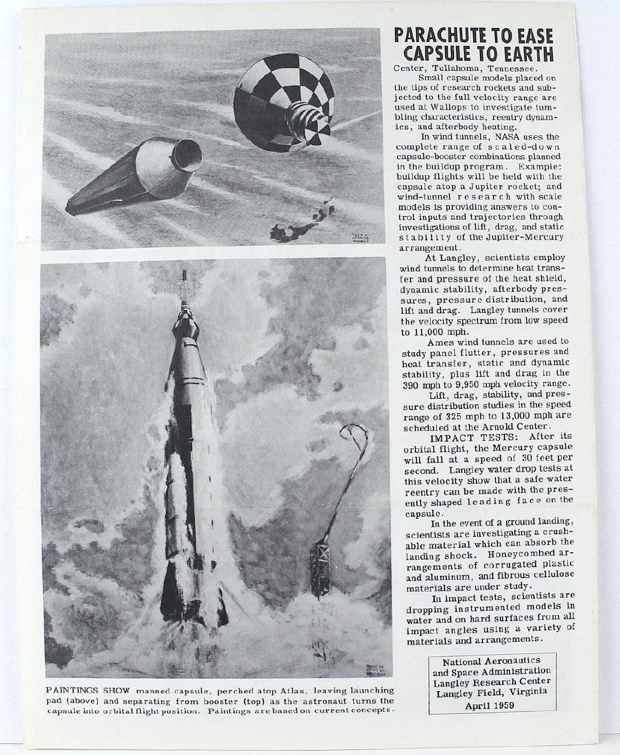 John Glenn Signed Project Mercury Pamphlet - 2