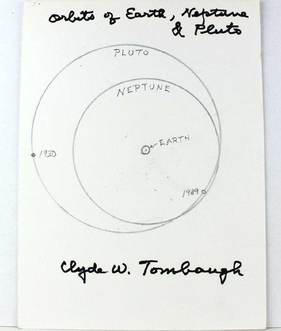 Clyde W. Tombaugh Signed Orbit Diagram Discovered Pluto