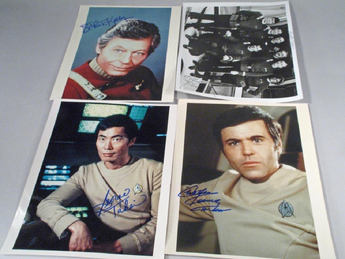 Star Trek Autograph Lot Walter Koenig, DeForest