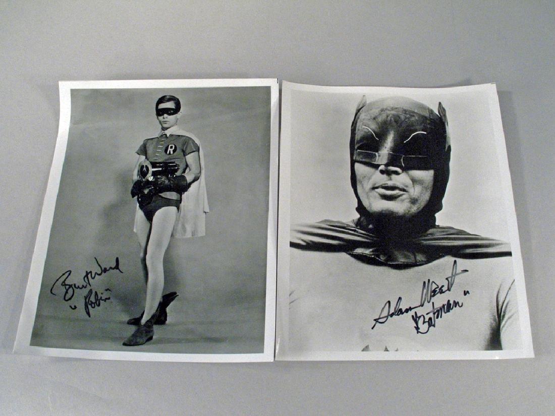 Batman Adam West Burt Ward Autograph  Stills