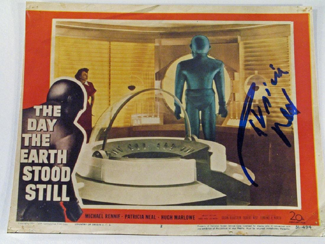 Day The Earth Stood Still Patricia Neal Autograph