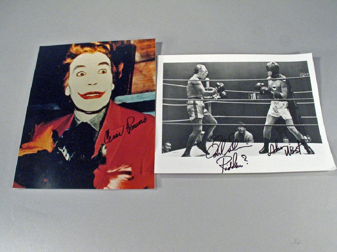 Batman, Riddler, Joker Autograph  Lot