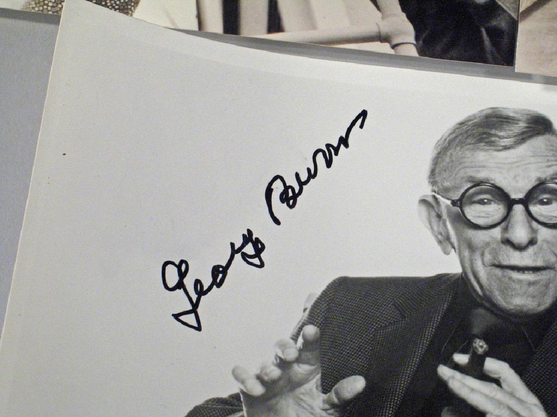 George Burns Autograph Lot