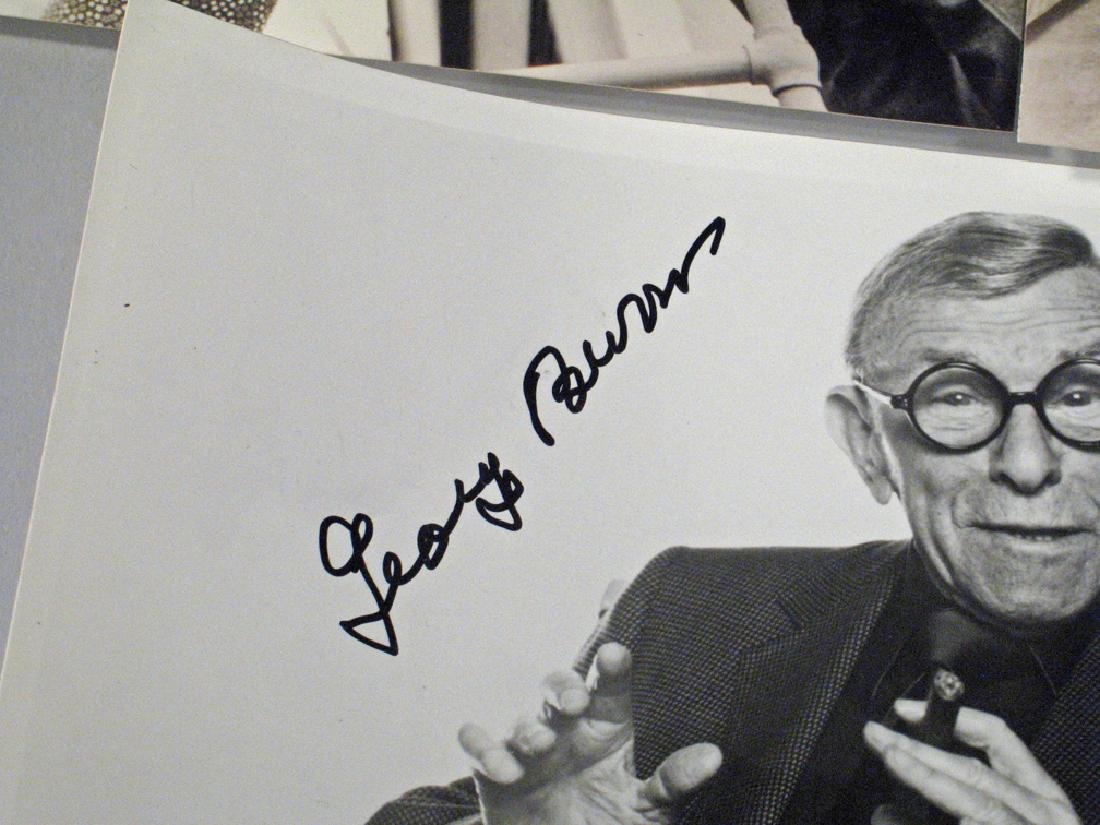 George Burns Autograph Lot