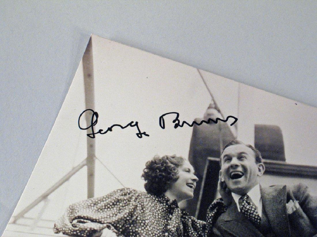 George Burns Autograph Lot - 2