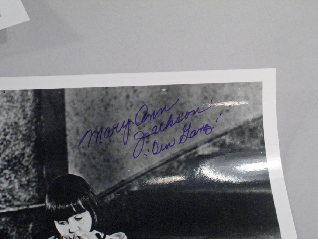 Our Gang Spanky McFarland Mary Ann Jackson Autographs - 2