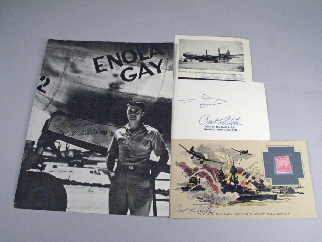 Paul Tibbits Enola Gay 1945 Hiroshima Autograph Lot