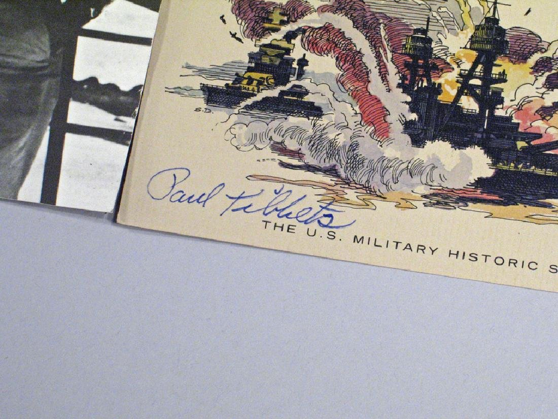 Paul Tibbits Enola Gay 1945 Hiroshima Autograph Lot - 2